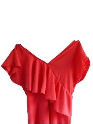 V-Ausschnitt mit asymmetrischem Volant - Party-/Sommerkleid von OBJECT - UVP: 39,95 € - bei uns nur 29 € inkl. Versandkosten