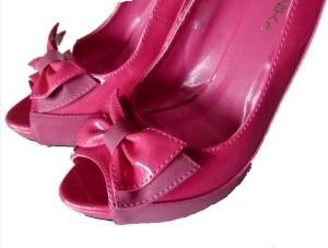 Peeptoes pink mit Zierschleife Gr. 38