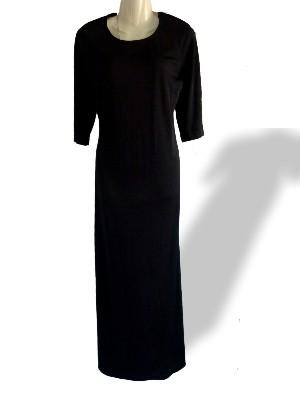 Schwarzes langes Abendkleid von Style woman Gr.38 - 2ndhand, nur 22 € inkl. Versandkosten -vorne ganz schlicht