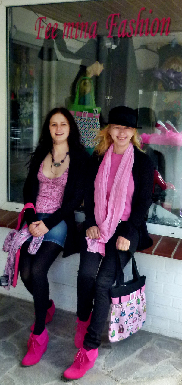 Schwarz mit pink - eine tolle Kombination: