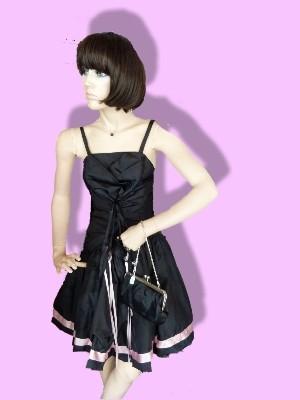 Etwas für Individualisten: Dieses Kleid gibt es nur einmal! (Schneiderarbeit) - 2ndhand, durch Schnürung anpassbar von Gr. 34-40 - 33 € inkl. Versandkosten