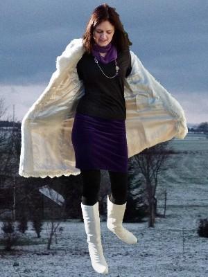 Winterliche Outfits preisgünstig in fröhlichen Farben