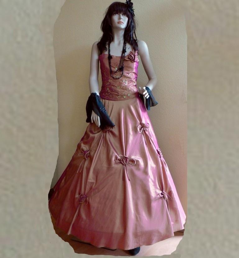 Zweiteiliges Abendkleid, bestehend aus Corsage und langem, weiten Rock - auch für einen Reifrock geeignet - 36,50 € inkl. Versandkosten