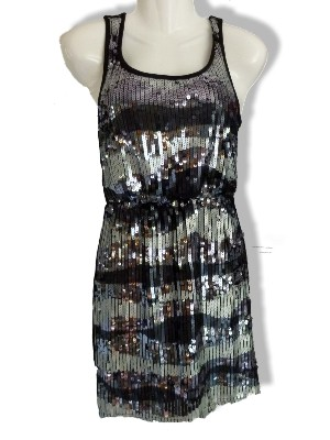 Partykleid mit Pailletten von Only - Taille elastisch