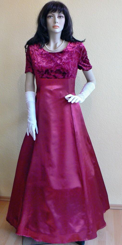 Abendkleid in tiefem Burgunderrot - auch etwas für Liebhaberinnen von Vintage-Kleidern! 2ndhand in Gr.S - nur 24,50 € inkl. Versandkosten.