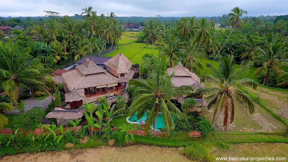 Tegallalang villa for sale with 6 bedrooms.  Ubud real estate for sale