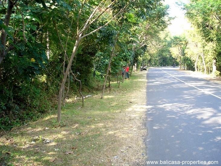85 meters road frontage