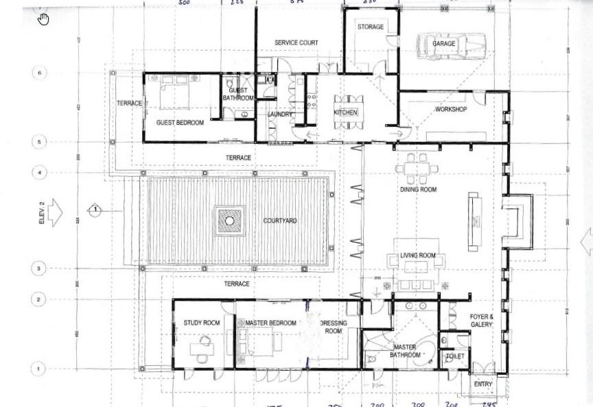 Floor plan Pemuteran villa