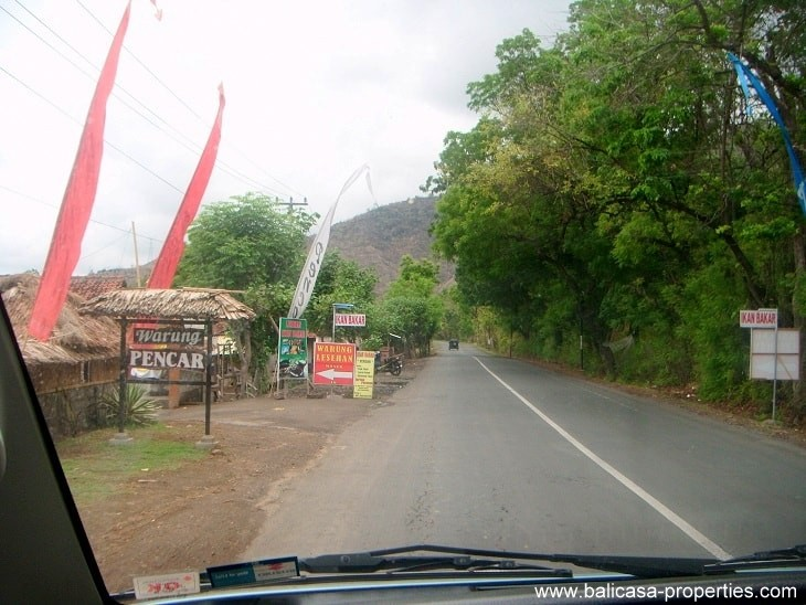 Leaving Banyupoh with land around the corner