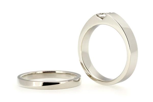 フルオーダーマリッジリング(結婚指輪)とエンゲージリング(婚約指輪)完成写真