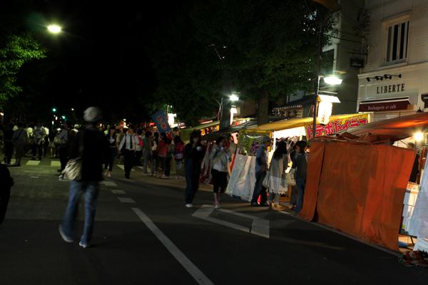 2014年5月下御霊神社の還幸祭・宵宮、寺町通りの縁日の様子