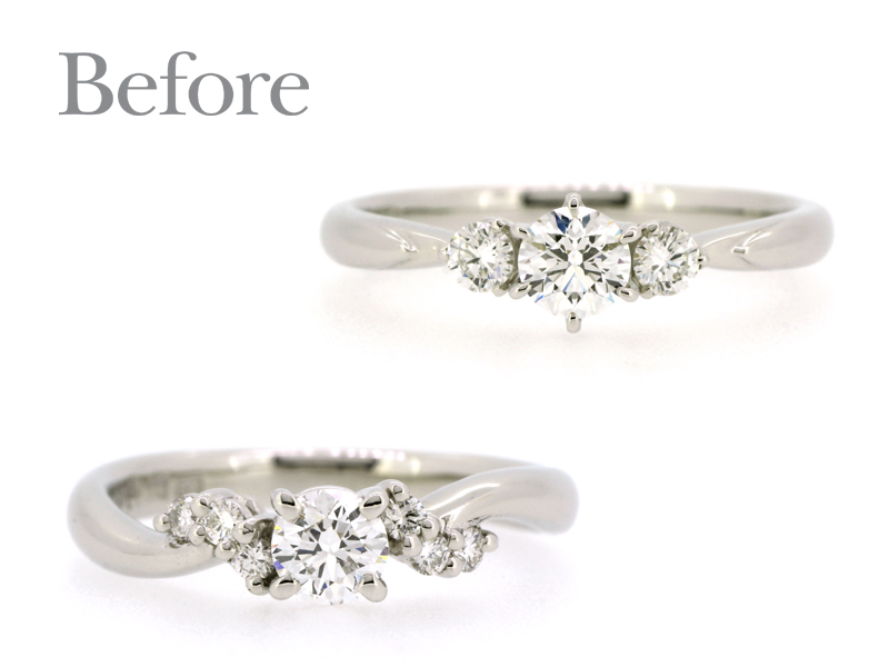 リフォーム前のダイヤの指輪2本