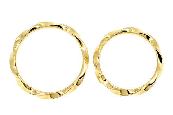 18金イエローゴールドのフルオーダーマリッジリング(結婚指輪)完成写真1