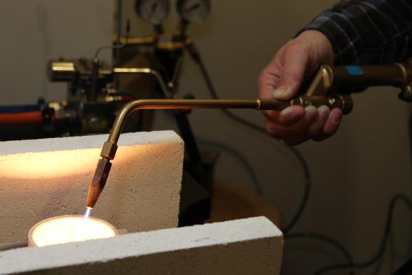 マリッジリング(結婚指輪)制作体験・地金溶解2