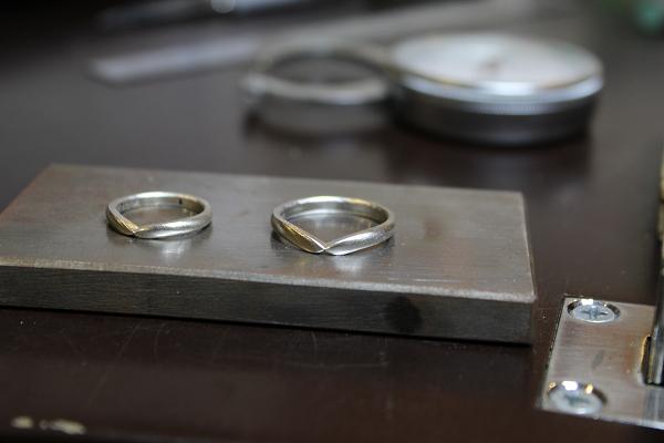 フルオーダーマリッジリング(結婚指輪)制作風景1
