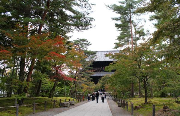 2013年11月の京都南禅寺の紅葉