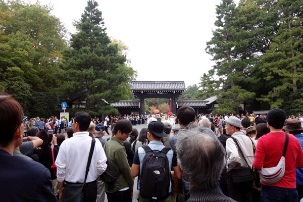 時代祭2015年堺町御門の様子1