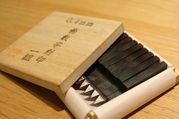 ジュエリー制作の工具紹介、数字刻印