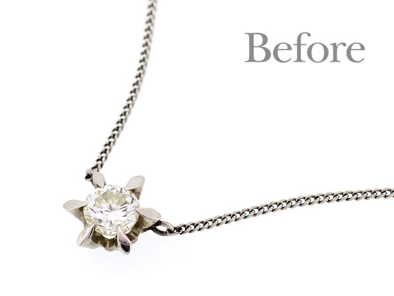リフォーム前のダイヤモンドネックレス