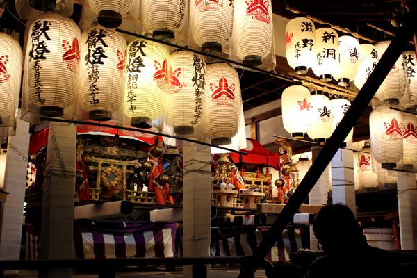 下御霊神社の還幸祭・宵宮、提灯とお神輿