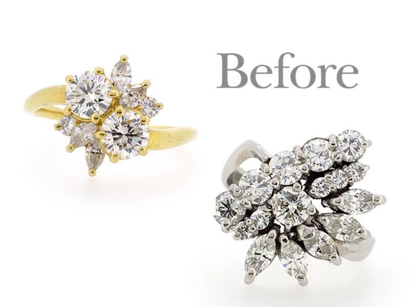 リフォーム前のダイヤモンドの指輪