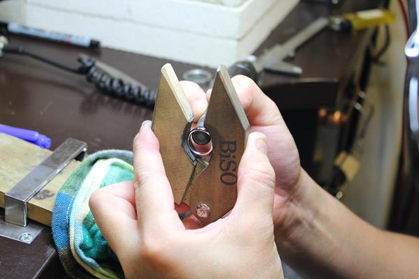 フルオーダーマリッジリング(結婚指輪)制作風景2