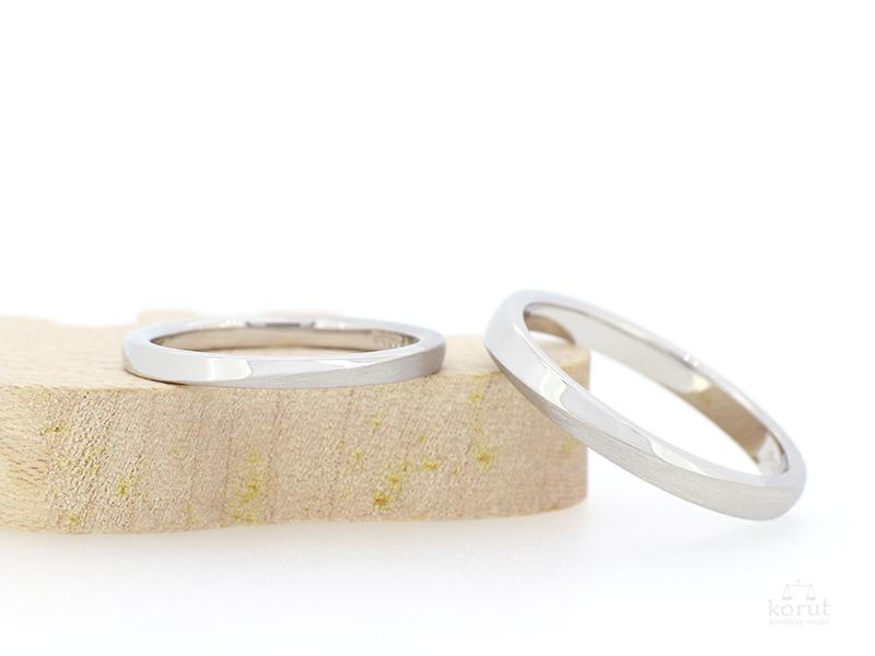 プラチナのマリッジリング(結婚指輪)