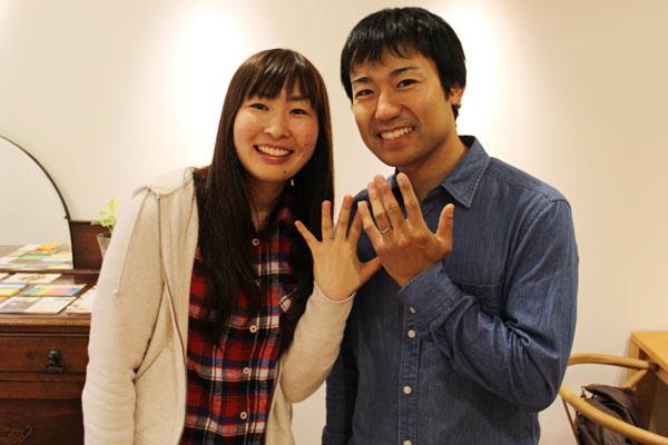 フルオーダーマリッジリング(結婚指輪)納品風景2