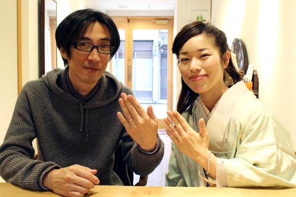 フルオーダーマリッジリング(結婚指輪)の納品風景