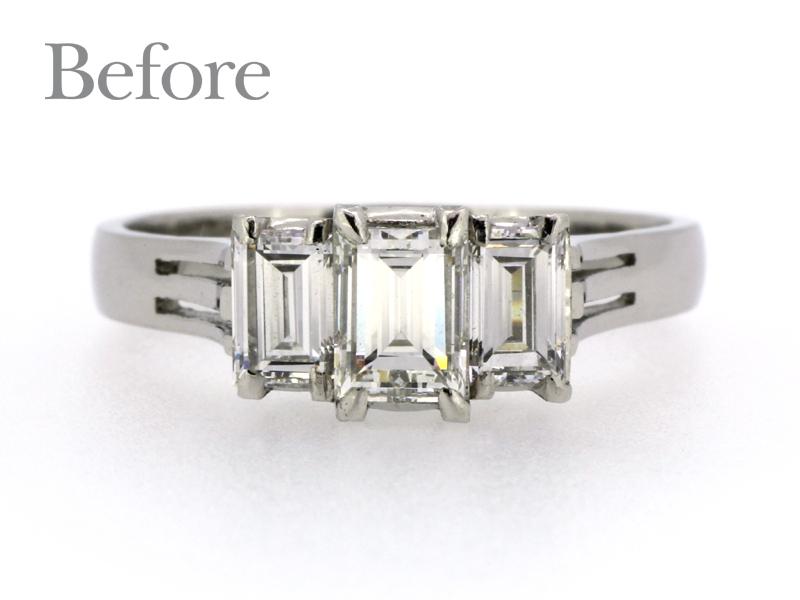 リフォーム前、ダイヤモンドの指輪