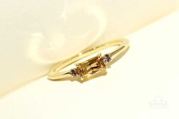 インペリアルトパーズとタンザナイトのリング(指輪)