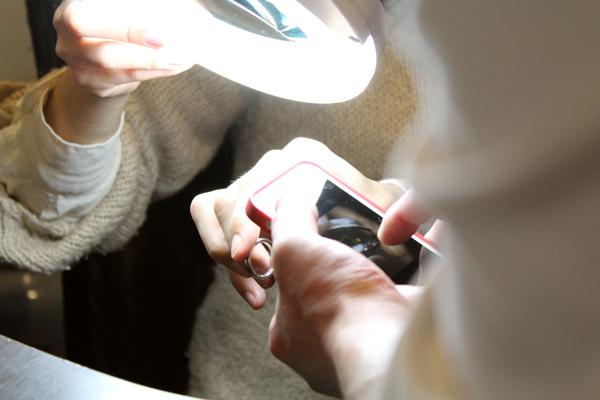 マリッジリング(結婚指輪)制作体験-文字打刻3