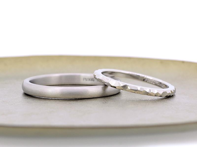 プラチナ製マリッジリング(結婚指輪)