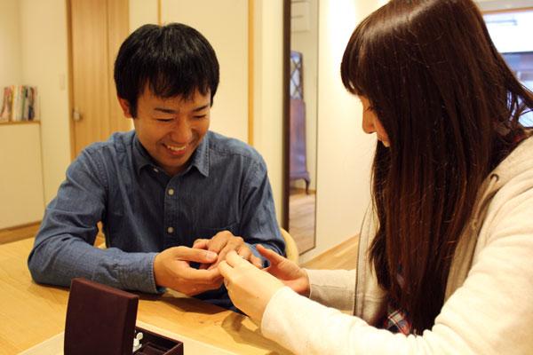 フルオーダーマリッジリング(結婚指輪)納品風景1