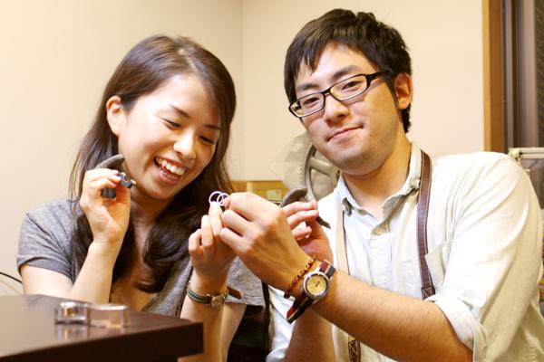 フルオーダーマリッジリング(結婚指輪)制作体験-文字打刻3