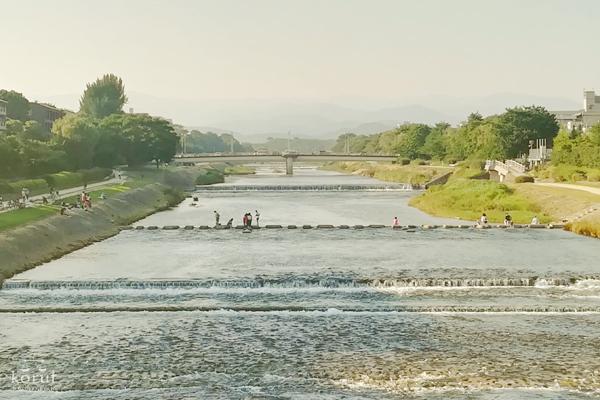 二条大橋から見た鴨川