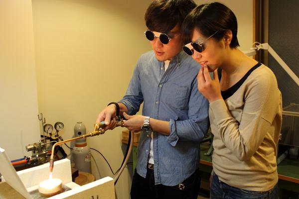 フルオーダーマリッジリング(結婚指輪)制作体験・地金溶解1