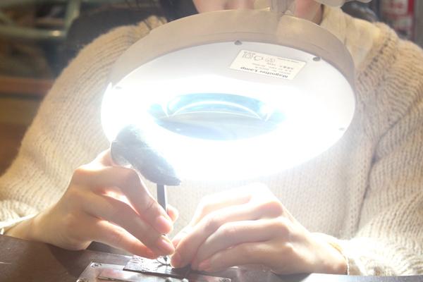 マリッジリング(結婚指輪)制作体験-文字打刻1