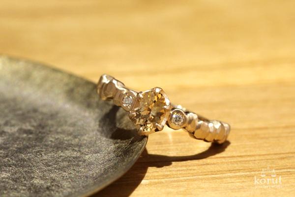 インペリアルトパーズとピンクゴールドのリング(指輪)