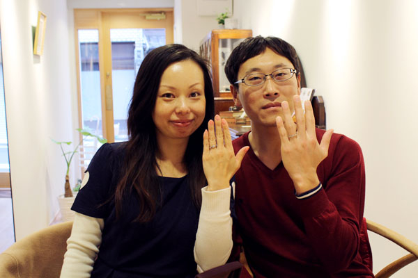 フルオーダーマリッジリング(結婚指輪)、エンゲージリング(婚約指輪)納品風景