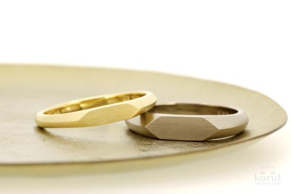 印台デザインのマリッジリング(結婚指輪)