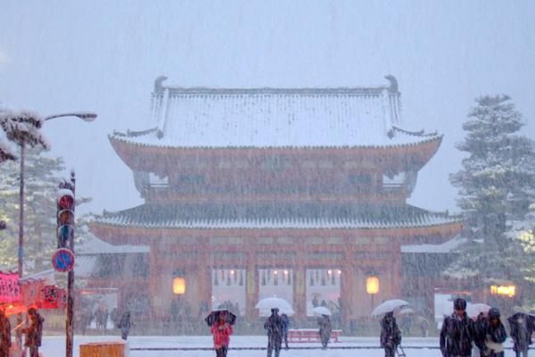 2015年1月雪の平安神宮