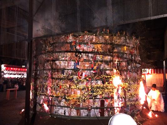 2014年2月上旬、吉田神社・節分祭の火祭2