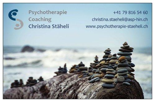 Visitenkarte - Praxis für Psychotherapie & Coaching Christina Stäheli