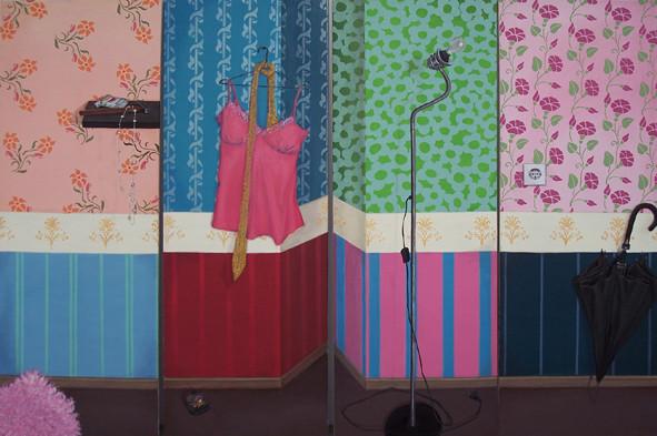 Interieur mit Stilleben _ Öl auf Leinwand |  4teilig, je 180x65cm, 2007