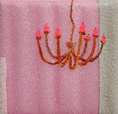 Variation zum kl.Glück #6 _ Öl / Acryl auf Schaumstoff / Leinwand | 10x10, 2012