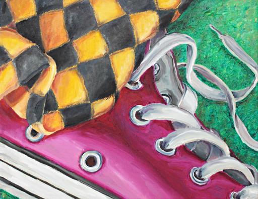 Socke an Schuh _ Öl auf Leinwand | 24x30cm, 2010