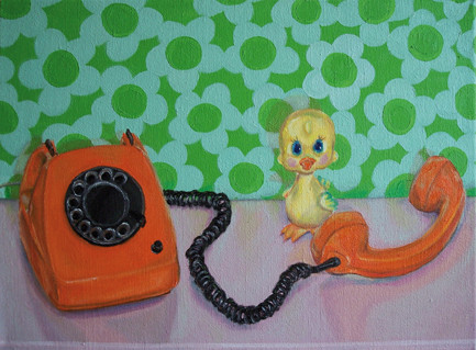 Stilleben mit Telephon _ Öl auf Leinwand | 50x65cm, 2007