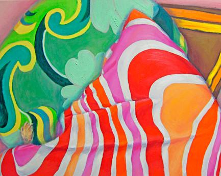 fiffi, schlafend #3 _ Öl auf Leinwand | 40x50cm, 2012