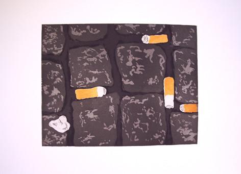 Zigaretten _ Aquatinta | 2 Platten je 28,5x22cm, 2007